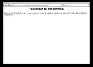 Lektion 2 - HTML på svenska