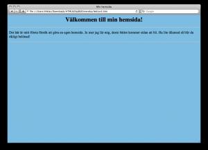 Lektion 3 - HTML på svenska