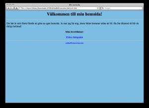 Lektion 4 - HTML på svenska