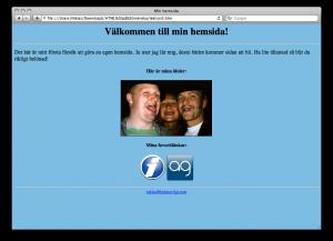 Lektion 5 - HTML på svenska