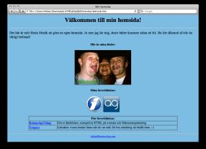 Lektion 6 - HTML på svenska